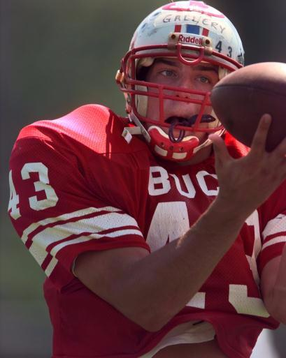 This is Robert Gallery during his days as a tight end for East Buchanan High School. The sixth-year Oakland Raider delivered a $10,000 donation to his high school alma mater Friday.