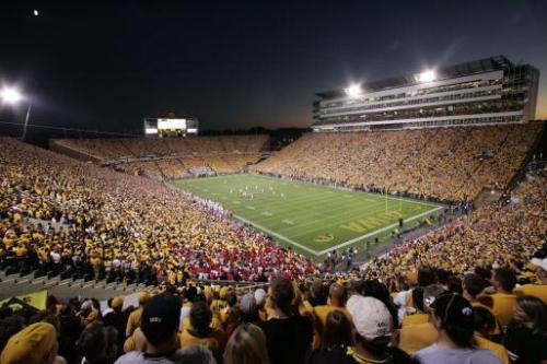 This is Kinnick Stadium at night, before the kickoff against Ohio State in 2006. (Gazette file)