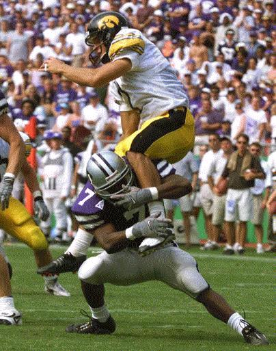 Jason Baker left Iowa as the school's career leader in total punts (272) and total punt yards (11,304). He couldn't crack any of Reggie Roby's distance records, but there's a good chance no one ever will. (Gazette file)